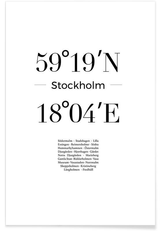 Sort & hvidt, Stockholm, Stockholm Plakat