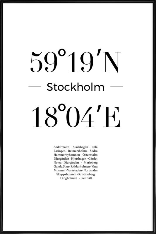 Stockholm Poster i standardram