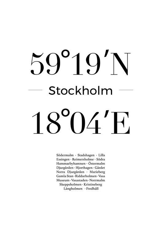 Stockholm Aluminiumtavla