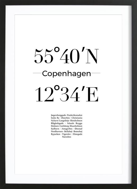 Copenhagen Poster i träram