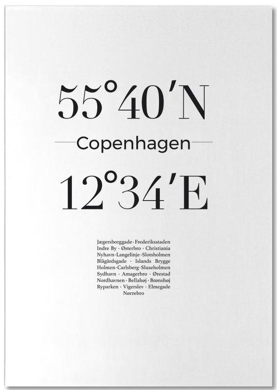 Noir & blanc, Copenhague, Copenhagen bloc-notes