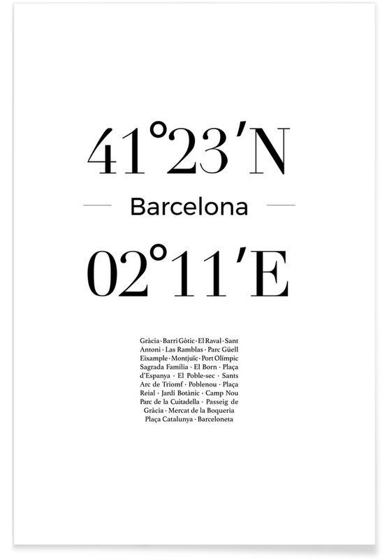 Barcelona, Sort & hvidt, Barcelona Plakat