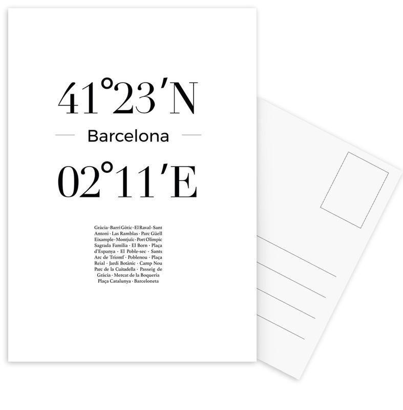 Barcelona -Postkartenset
