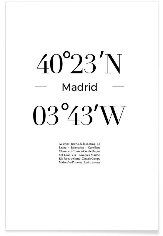 Blanco y negro, Madrid, Madrid póster