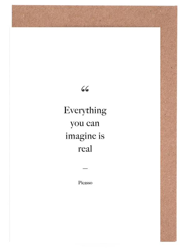Everything You Can Imagine Is Real -Grußkarten-Set