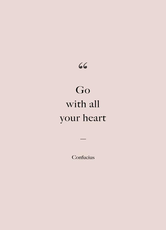 Go with All Your Heart Canvastavla