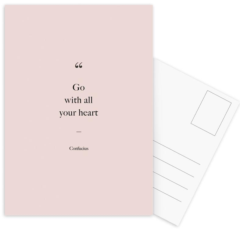 Go with All Your Heart -Postkartenset