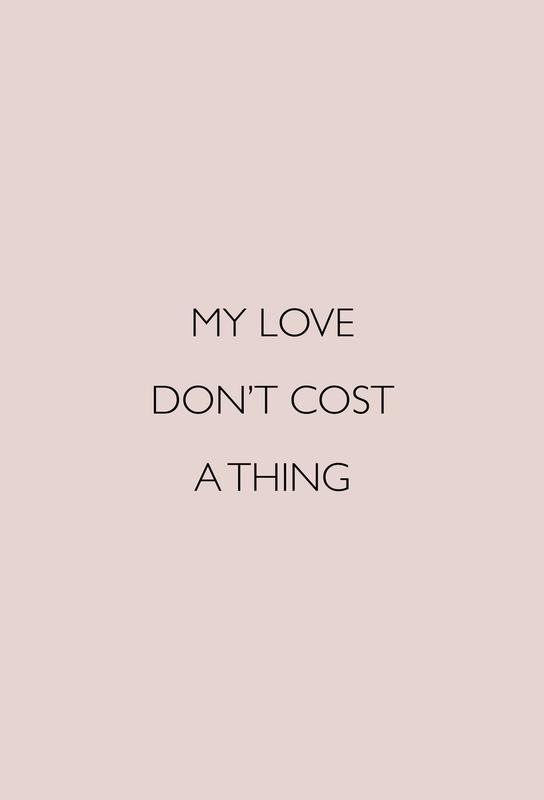 My Love Don't Cost a Thing -Alubild