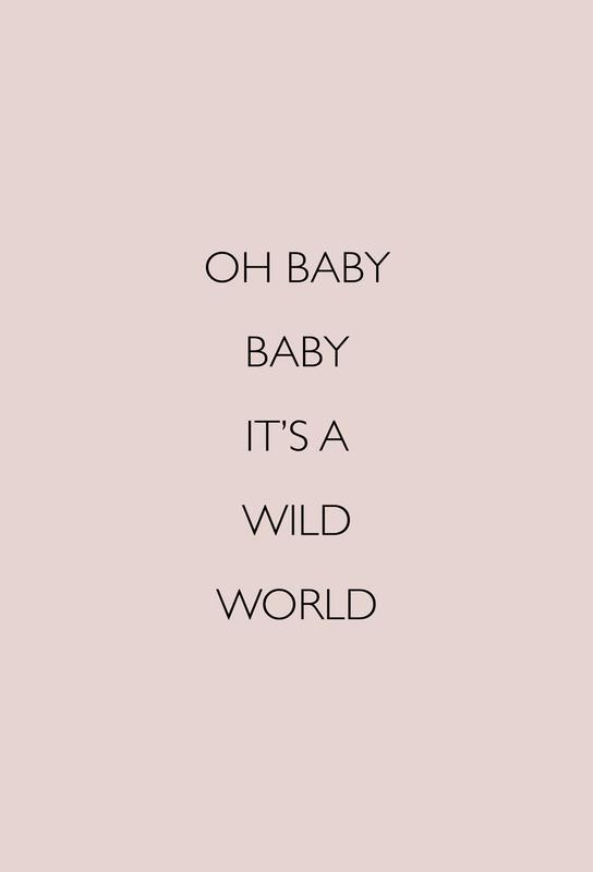 Oh Baby Baby It's a Wild World -Acrylglasbild