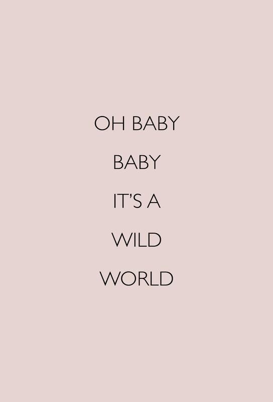 Oh Baby Baby It's a Wild World -Alubild
