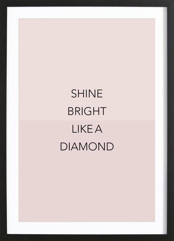 Shine Bright 01 Poster i träram