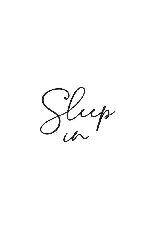 Sleep in - White alu dibond