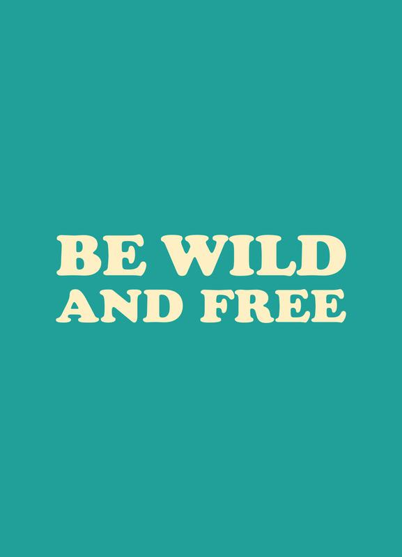 Be Wild and Free - Mint canvas doek