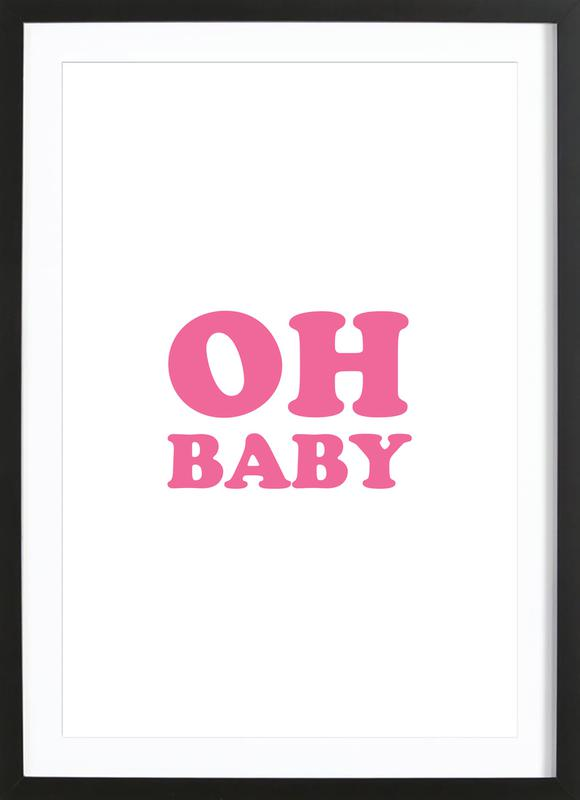Oh Baby - Pink Framed Print