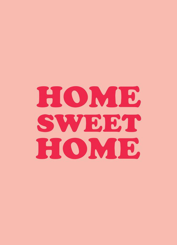 Home Sweet Home - Pink Canvas Print