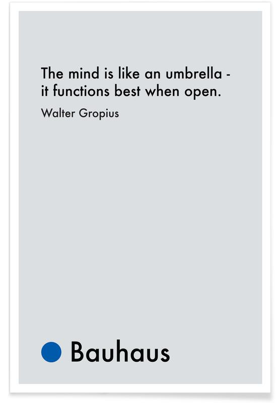 Gropius - Creativity poster