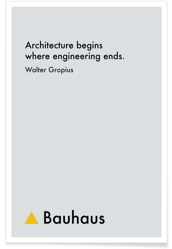 , Gropius - Architecture Plakat
