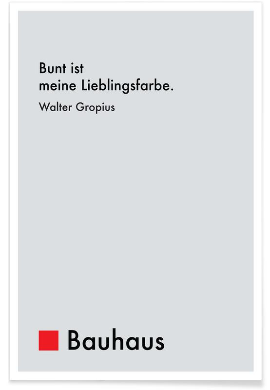 Gropius - Colourfulness poster
