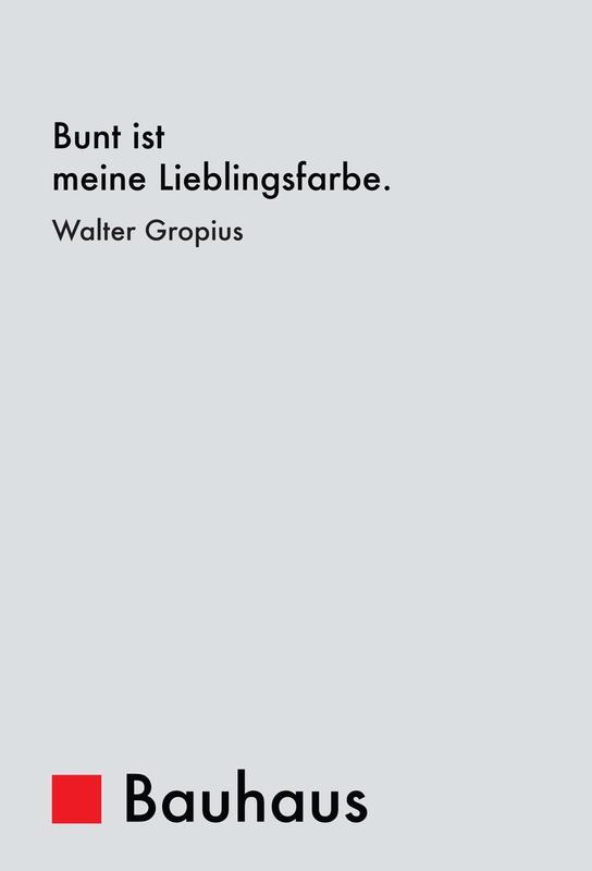 Gropius - Colourfulness -Alubild