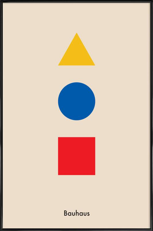 Primary Polygons Poster i standardram