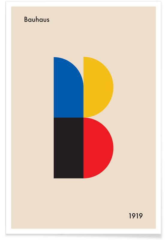 B for Bauhaus Poster