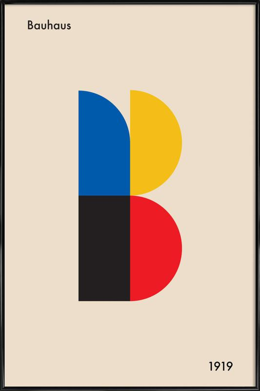 B for Bauhaus Poster i standardram