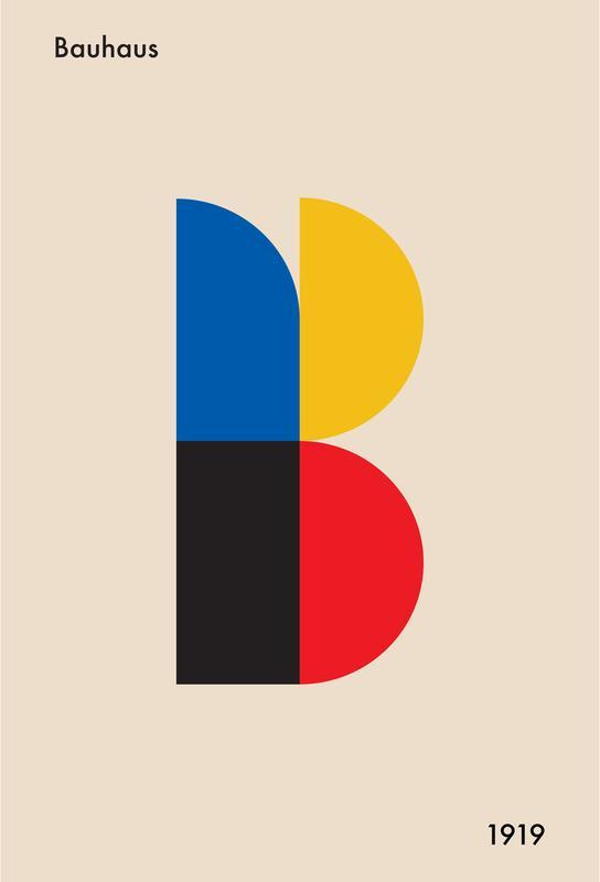 B for Bauhaus Aluminium Print