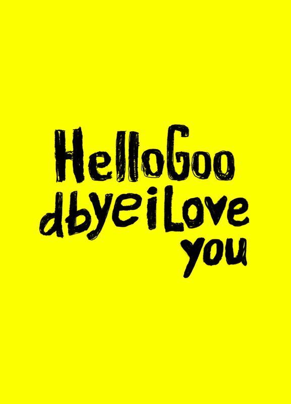 Hello Goodbye by Mica Andreea -Leinwandbild