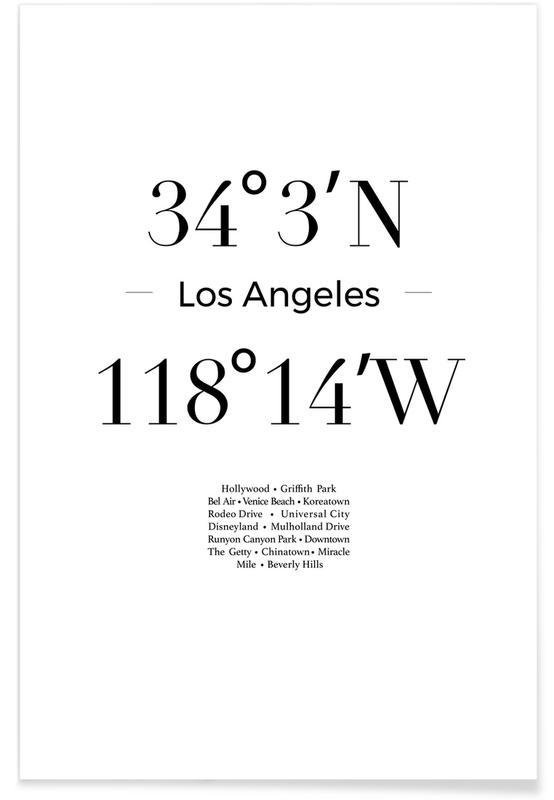 Blanco y negro, Los Ángeles, Los Angeles póster