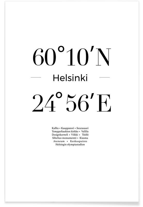 Sort & hvidt, Oslo Plakat