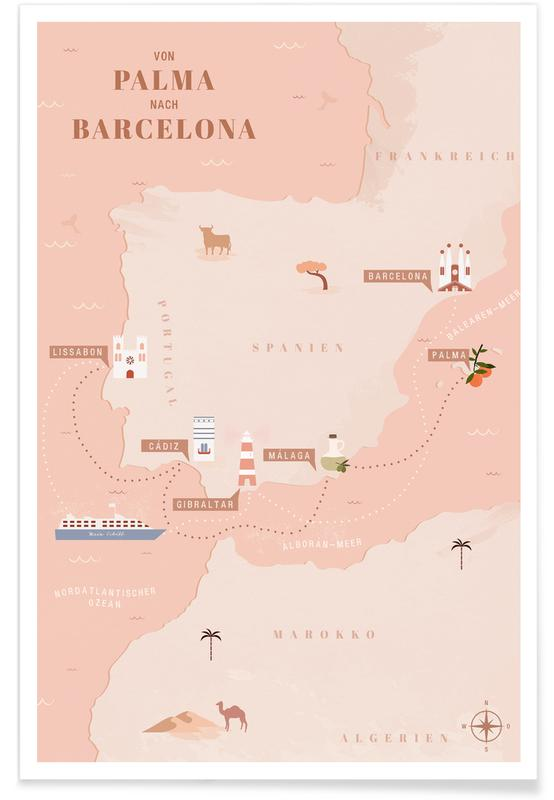 Rejser, Von Palma nach Barcelona I Plakat