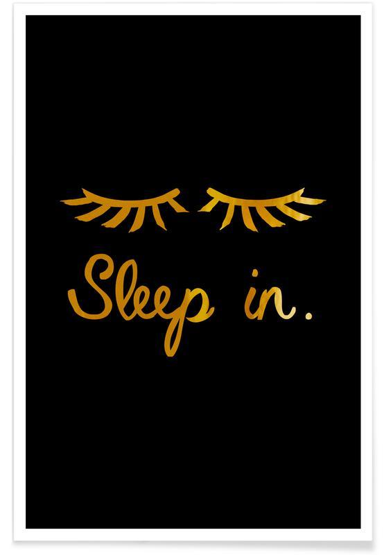 Humor, Sleep In Guld Plakat