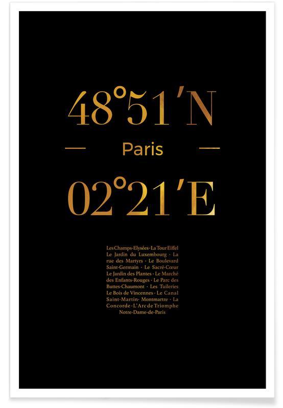 Paris, Rejser, Paris Guld Plakat