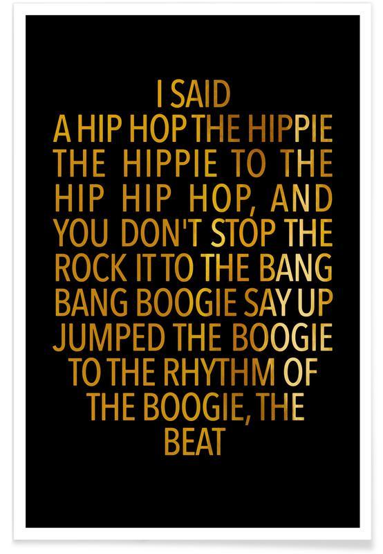 Zitate & Slogans, Motivation, Songtexte, Delight-Gold -Poster