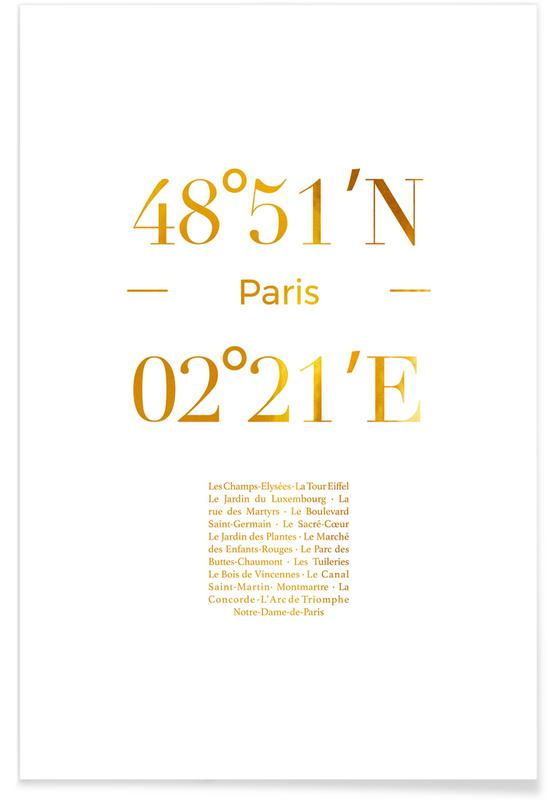 Gold Paris Poster