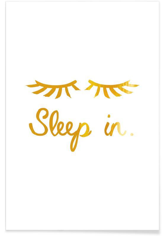 Lustig, Sleep In-Gold -Poster