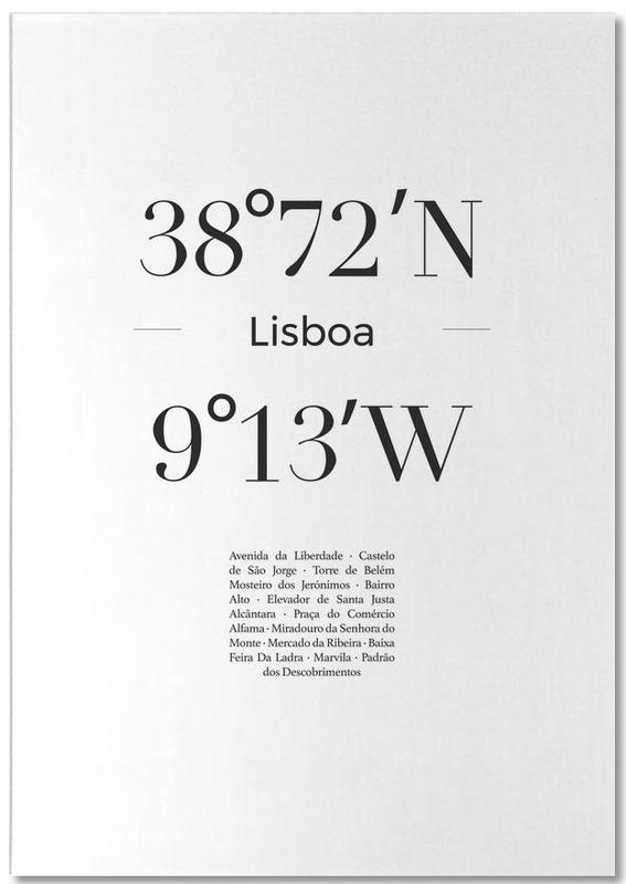 Zwart en wit, Reizen, Lissabon, Lisboa notitieblok