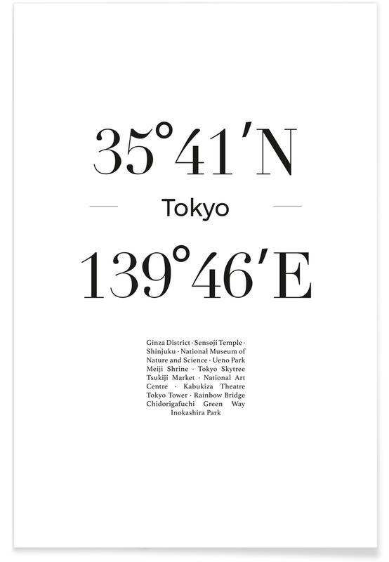 Sort & hvidt, Tokyo, Rejser, Tokyo Plakat