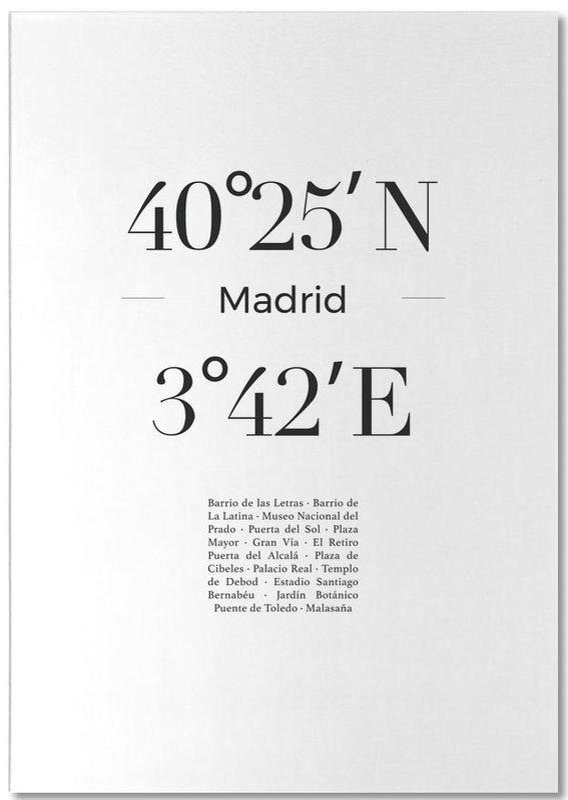 Noir & blanc, Voyages, Madrid, Madrid bloc-notes