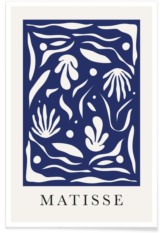Blue Garden Poster