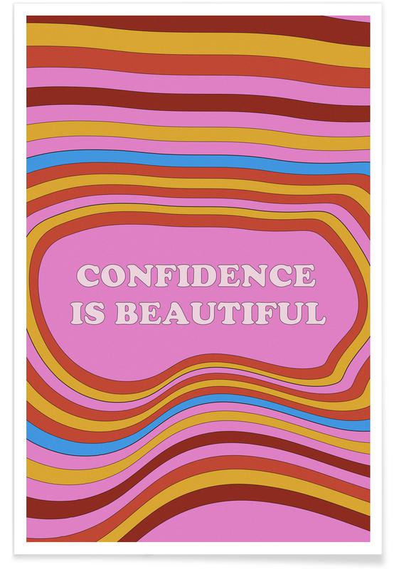 Motivational, Confidence Is Beautiful Poster
