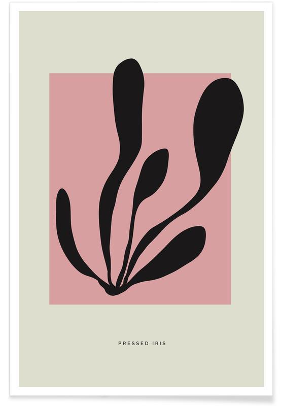 , Pressed Iris Poster