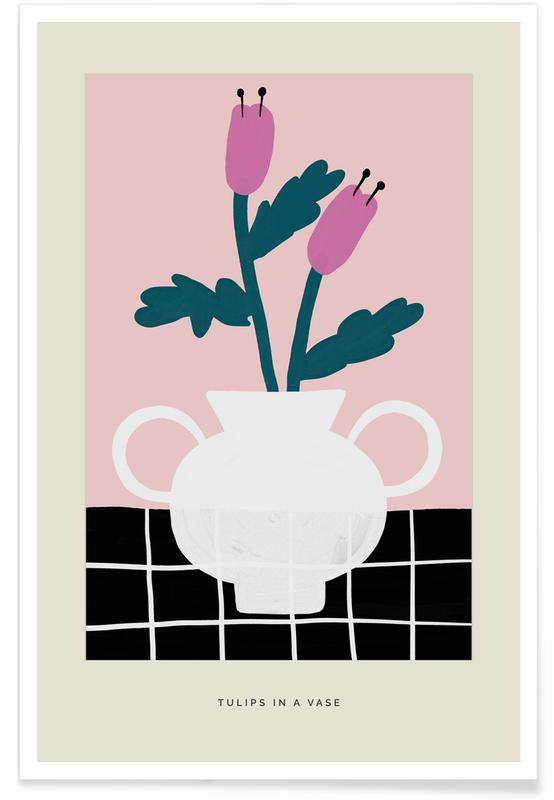 Tulipes, Tulips In A Vase affiche