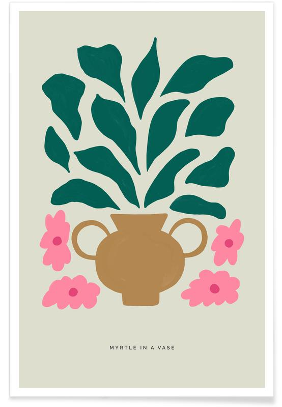 , Myrtle In A Vase affiche