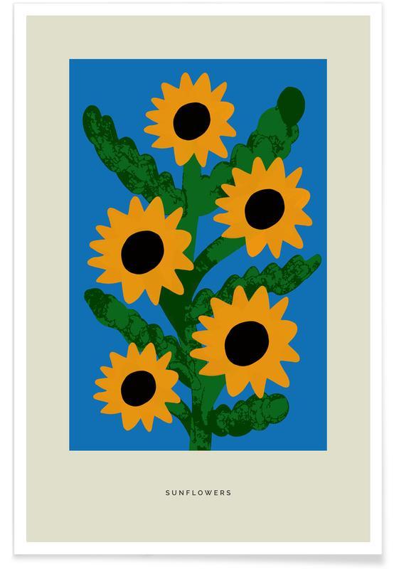 Tournesols, Sunflowers affiche