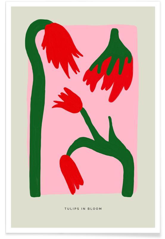 Tulpen, Bloemenmarkt, Tulips In Bloom poster