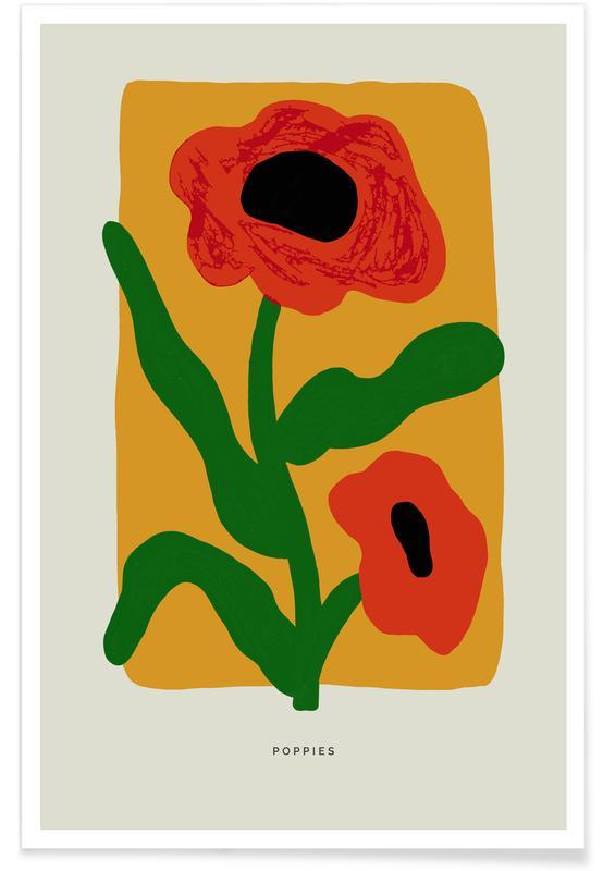Coquelicots, Poppies affiche