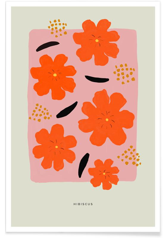 Flower Market, Hibiscus Poster