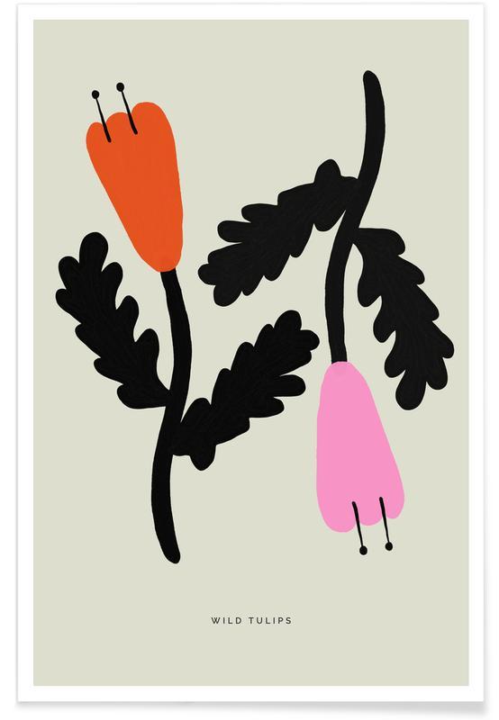 Tulips, Wild Tulips Poster