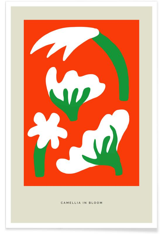 , Camellia In Bloom -Poster